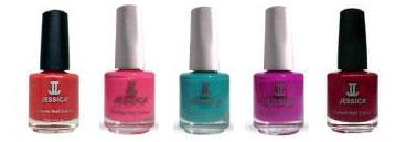Range of Jessica Nail Varnish colours